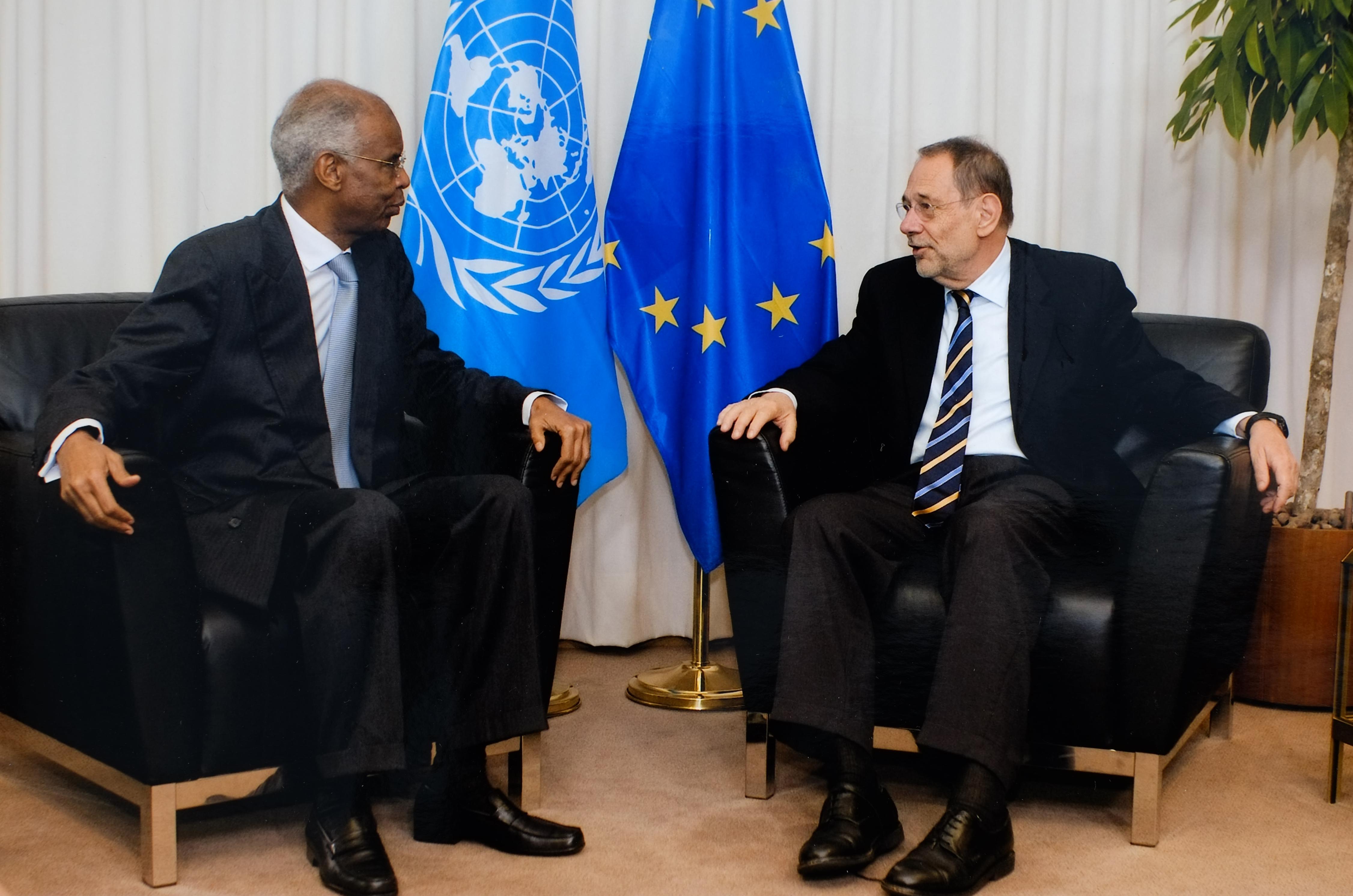 Avec J. Solana UE Bruxelles
