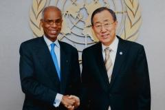 Avec Ban Ki Moon