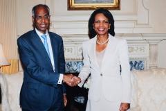 Avec Condoleeza Rice
