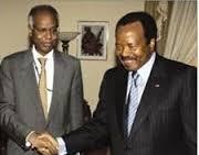 Avec P. Biya Président du Cameroun