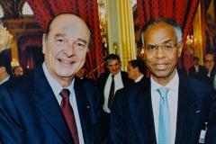 Avec  le Président Chirac
